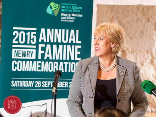Launching  the 2015  Famine Commemoration,    Heather Humphreys, TD, Minister for Arts, Heritage and the Gaeltacht,