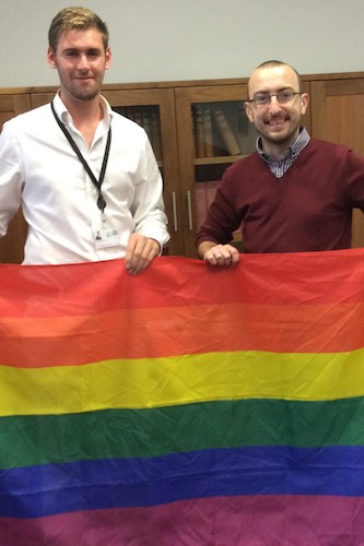 Councillors Patrick Brown and Kevin McAteer who put forward the equal marriage motion.