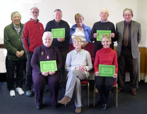 Silver Fáinne recipients at U3A