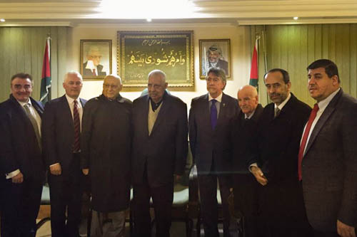 Mickey Brady MP met King Abdullah, members of the Jordanian Parliament, the Palestinian Nation Council and Palestinian refugees on his recent trip to Jordan.