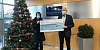 Robert Gordon, Managing Director of Gordons Chemists is pictured presenting a cheque for £5000 to Anne Mac Oscar, Corporate Partnerships Officer at Southern Area Hospice. Gordons Chemists made the generous donation towards the Southern Area Hospice Corporate Christmas Gift Appeal.