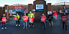 Council workers strike in December at Greenbank in Newry. Photograph: Columba O'Hare