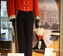 The Deputy Lieutenant's uniform worn by Arthur Charles Innes-Cross on display in Newry and Mourne Museum in 2012. The uniform went under an intensive programme of conservation cleaning by a textile conservator before display. Newry and Mourne Museum Collection