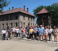 Participants from the Newry, Mourne and Down area visit Auschwitz as part of the PEACE IV Diversity and Good Relations trip to Poland.