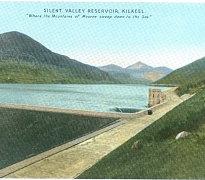 A postcard showing the Silent Valley Reservoir shortly after it was completed. Newry and Mourne Museum Collection