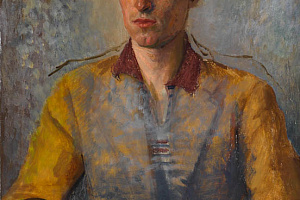 The third (unfinished) portrait of David Clarke, painted by his mother around 1940. Newry and Mourne Museum Collection