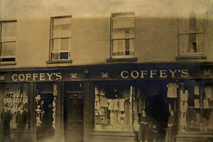Coffey's shoe and drapery store in Warrenpoint pictured c.1930 Newry and Mourne Museum Collection