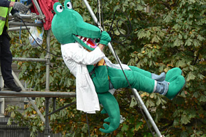 'Croc the Doc' taking part last year.