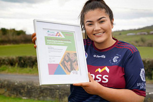 Niamh Rafferty, the Translink and Ulster GAA Young GAA Volunteer of the Year