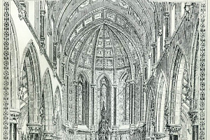 George Ashlin's original design for the chancel of the Dominican Church in Newry. Newry and Mourne Museum Collection