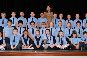 Windsor Hill PS, Newry was the winner of Choral Speaking Class 14 at Newry Feis. Photograph: Columba O'Hare/ Newry.ie