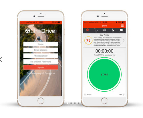 The ChilliDrive Smartphone App