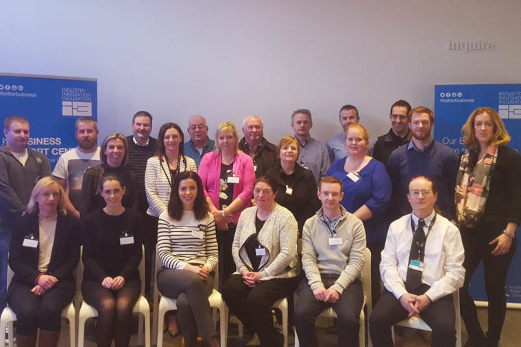 Brian McGee i3 Information Technology Specialist, Margaret McNamee i3 Business Development Executive, Tracy Rice i3 Manager along with participants of the recent masterclass in Cyber Security.