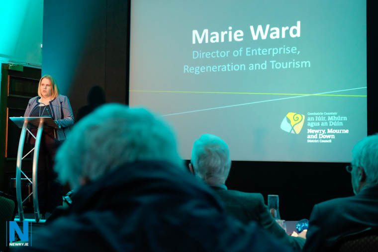 Marie Ward, Director of Enterprise, Regeneration and Tourism, Newry, Mourne and Down Council at the launch of the Tourism Strategy. Photograph: Columba O'Hare