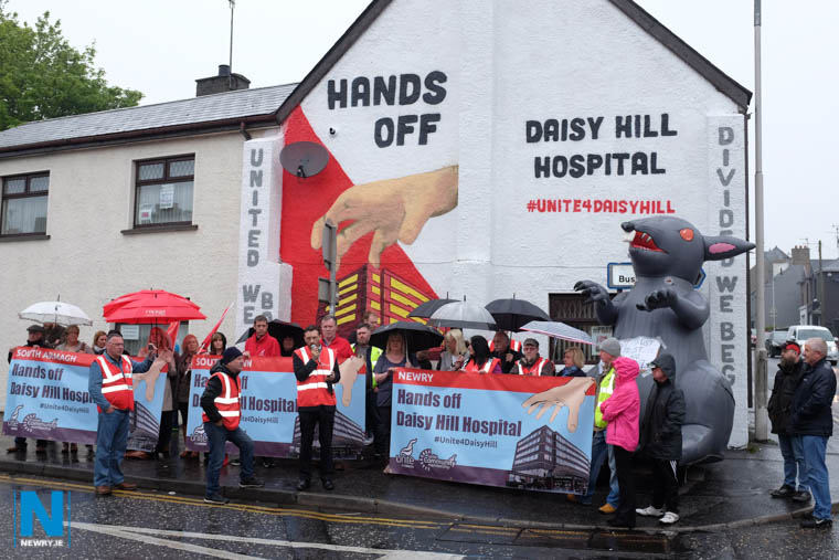 The Hands off Daisy Hill Mural unveiled at the weekend Photograph: Columba O'Hare